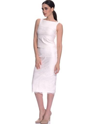 House Of Camellia House Of Camellia Beyaz Kolsuz Kadın Bluz Beyaz